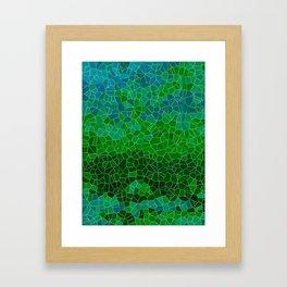 Mosaic Forest Framed Art Print