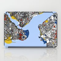 istanbul iPad Cases featuring Istanbul by Mondrian Maps