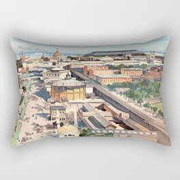 Amazing View from the Ferris Wheel in Chicago 1893 Rectangular Pillow