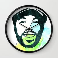 randy c Wall Clocks featuring C' by Naniii
