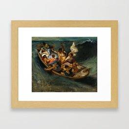 Eugene Delacroix - Christ on the Sea of Galilee, 1841 Framed Art Print