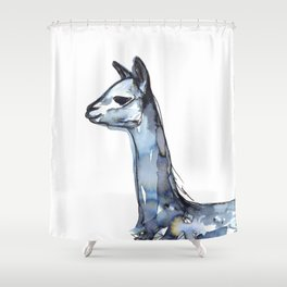 Vicuna Watercolor Sketch Shower Curtain