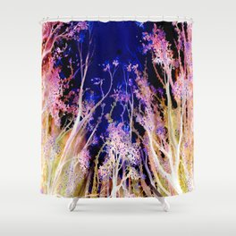 Moonlit Trees Shower Curtain