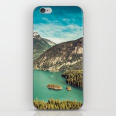 Mountain and Forest Lake Diablo - Blue and Green Water and Trees iPhone & iPod Skin