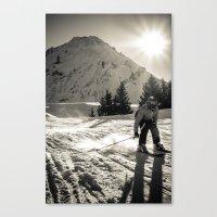 ski Canvas Prints featuring ski by Sébastien BOUVIER