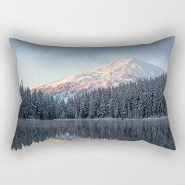Mount Bachelor Sunrise Rectangular Pillow