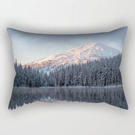 Mount Bachelor Sunrise Rectangular Pillow
