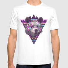 Piñata BEAR  White Mens Fitted Tee MEDIUM