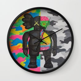 kamo kaws Wall Clock