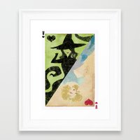 wicked Framed Art Prints featuring Wicked by Serena Rocca