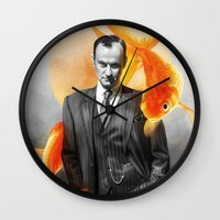 goldfish Wall Clocks featuring Goldfish by tillieke