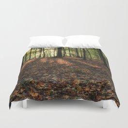 Autumn Forest Sunrise. Duvet Cover