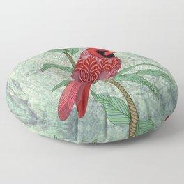 Virginia Cardinal Floor Pillow