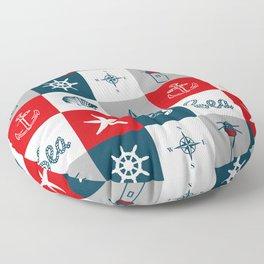 Nautical design 4 Floor Pillow