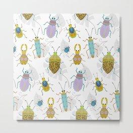 Jewel Bugs Metal Print