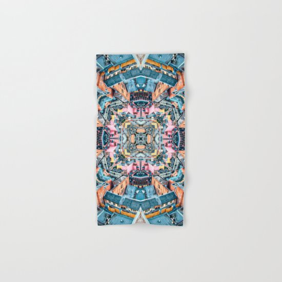 City In A Circle Hand & Bath Towel