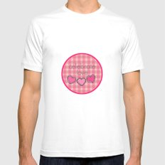 Celebrate Love! Mens Fitted Tee MEDIUM White