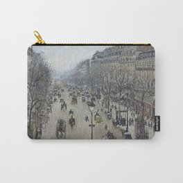 Camille Pissarro - Boulevard Montmartre - Morning, Grey Weather Carry-All Pouch