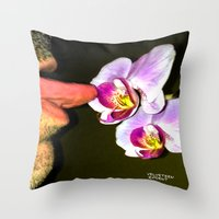 cunt Throw Pillows featuring funny painting lick BDSM fetish Big dick cock suck oral sex pussy cunt transgender anal fuck  by Velveteen Rodent