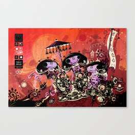 Diplomatic Party With Alien Friends Canvas Print