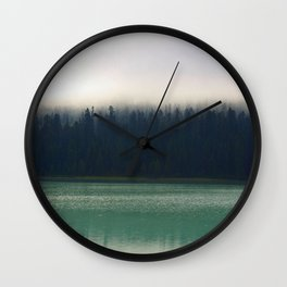 Faded Forest And Lake Wall Clock