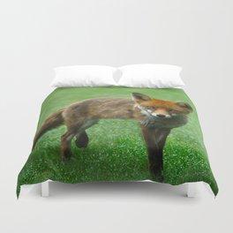 Wild Red Fox Duvet Cover