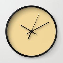 Vintage New England Shaker Village Pale Mustard Milk Paint Wall Clock
