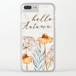 hello autumn Clear iPhone Case