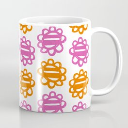 Fun Flowers pink orange Coffee Mug
