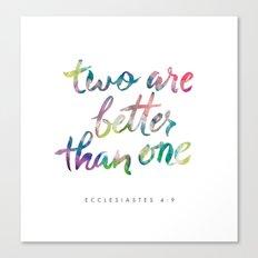 Ecclesiastes 4:9 Canvas Print