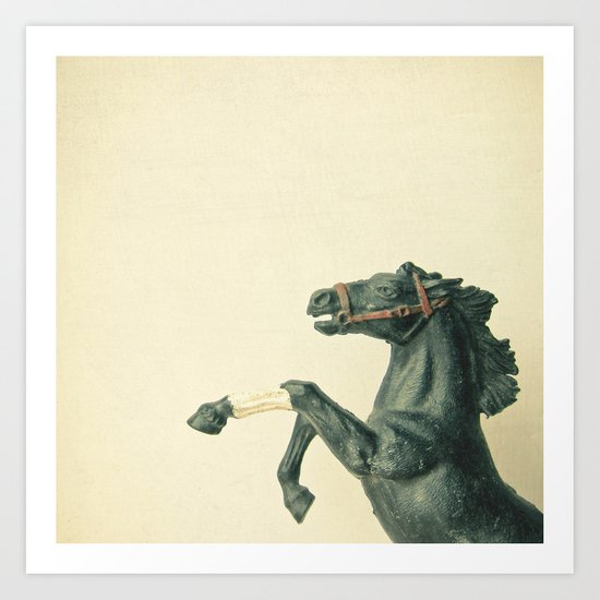 The Black Horse Art Print