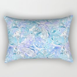 Blue and cornflower leaves. Rectangular Pillow