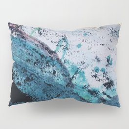 Twilight [2]: a beautiful, abstract watercolor + mixed-media piece in blue, gold, purple, + pink Pillow Sham
