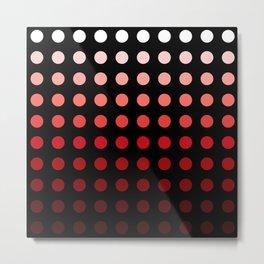 Tangaroa - Colorful Red Gradient Abstract Dots Art Metal Print