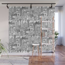 Seattle black white Wall Mural