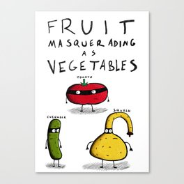 Fruit Masquerading as Vegetables Canvas Print