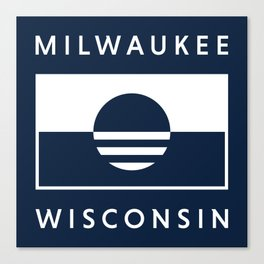 Milwaukee Wisconsin - Navy - People's Flag of Milwaukee Canvas Print