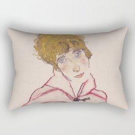 """Egon Schiele """"Edith Schiele mit Windhund"""" Rectangular Pillow"""