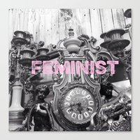 feminist Canvas Prints featuring FEMINIST  by L. Jamie