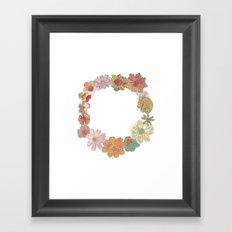 Halftone Flower Ring Framed Art Print