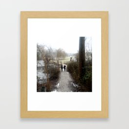 Snowy Path  Framed Art Print