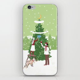 Decorating a tree iPhone Skin