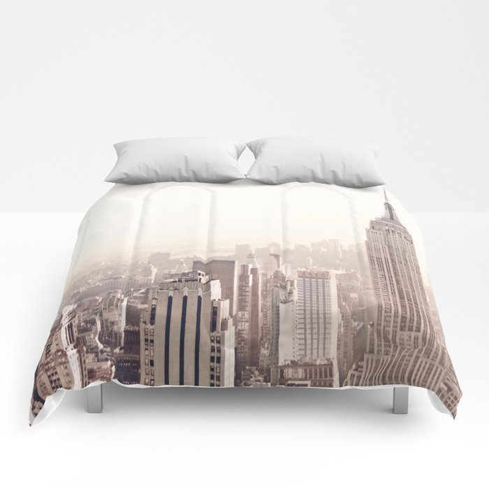 New York City Above the Cityscape Comforters