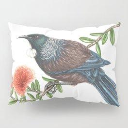Tui on Pohutukawa Pillow Sham