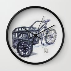 vietnam delivery bike Wall Clock