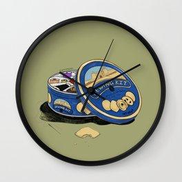 Sewing Kit Wall Clock