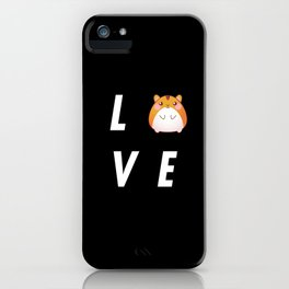 Funny Love Hamster Pun Quote Sayings iPhone Case