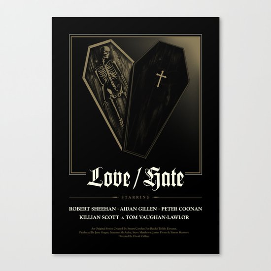 Love/Hate Poster Canvas Print