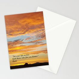 Set your life on fire - Sunset Madras Oregon Stationery Cards