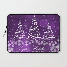 Happy Holidays Purple Magic Laptop Sleeve